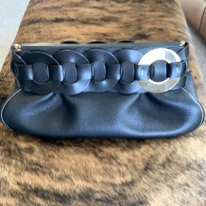 Chloe black leather clutch